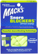 Mack's Snore Blockers Soft Foam Earplugs 12 pair