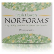 Norforms Long Lasting Feminine Deodorant Suppositories 12 Suppositories