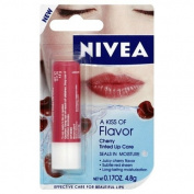 A kiss of Flavour Cherry Tinted Lip Care Nivea 5ml Lip Balm For Unisex