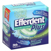 Efferdent Denture Cleanser, Minty FreshBurst, 36 tablets