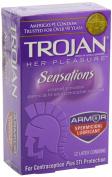 Trojan Condom Her Pleasure Sensations Spermicidal