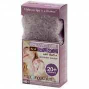 Spongeables 20+ Lavender Nectar, Exfoliating Buffer, 1 sponge