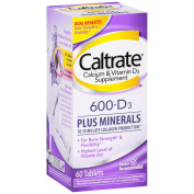 Caltrate Calcium Supplement With Vitamin D & Minerals, Tablets 60 Ea