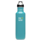 Klean Kanteen Reef Blue 800ml Water Bottle w/ Loop Cap