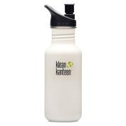 Klean Kanteen Glacier White 530ml Water Bottle w/ Sport Cap 2.0