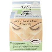 GODEFROY Shape & Tint Permanent Eye Brow Colour & Shaping Kit DARK BROWN