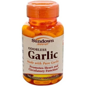 Sundown Odourless Garlic, 100 softgels