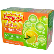 Emergen-C 1000 mg Vitamin C Fizzy Drink Mix, Lemon Lime Flavored 30 packets