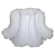 Spa Sister Luxury Inflatable Terrry Bath Pillow White