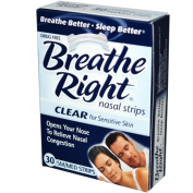 Breathe Right Nasal Strip 30-pk. - Clear