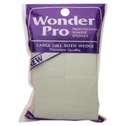 Wonder Professional Makeup Sponges Large Wedge #04100 - 8 Count