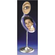 Zadro MA47  Adjustable Pedestal 7X-13cm X 23cm Mirror - Satin Nickel