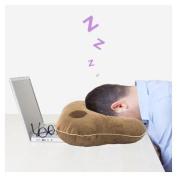 Relaxso EZSLEEP Face Down Speaker Pillow, Silky Plush Mocha