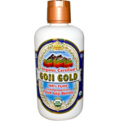 Dynamic Health Goji Gold- 100% Pure Organic Certified Goji Juice, 950ml Bottle