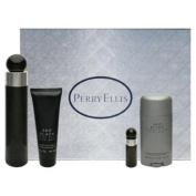 360 Black Gift Set - 100ml EDT Spray + 90ml Aftershave Balm + 80ml Deodorant Stick + Mini