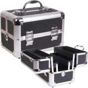 BLACK POLKA COSMETIC MAKEUP ALUM. CASE
