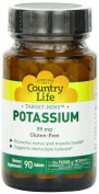 Potassium Target-Mins 90 Tabs by Country Life
