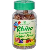 Rhino Veggie-Fruit Bears - 60 Gummies,