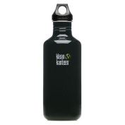 Klean Kanteen Black Eclipse 1180ml Water Bottle w/ Loop Cap