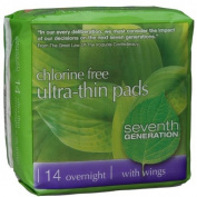 Seventh Generation Ultra-Thin Overnight Pads (Pack of 12) 14 Count