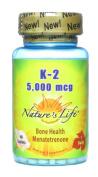 Nature's Life, K-2 Menatetrenone, 5000 mcg, 60 Tablets