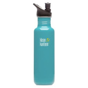 Klean Kanteen Reef Blue 800ml Water Bottle w/ Sport Cap 2.0