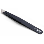 MEHAZ 130 by Rubis Switzerland Slanted Tweezer BLACK (Model