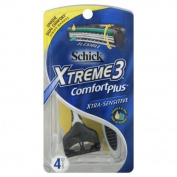 Schick Comfort Plus Razors, Xtra-Sensitive, 4 razors