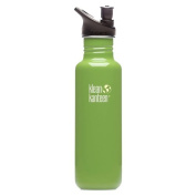 Klean Kanteen Be Green 800ml Water Bottle w/ Sport Cap 2.0