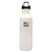 Klean Kanteen Glacier White 800ml Water Bottle w/ Loop Cap