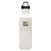 Klean Kanteen Glacier White 800ml Water Bottle w/ Loop Cap