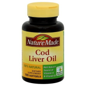 Nature Made Cod Liver Oil, 100 softgels