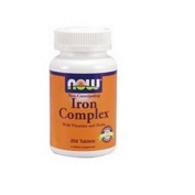 Now Foods Iron Complex, 250 Tabs