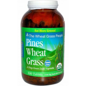 Pines International Organic Wheat Grass 500 Mg Tablets, 100 Count