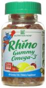 Nutrition Now Rhino Gummy Omega-3, Lemonade, Cherryade & Strawberry 60 gummy fish