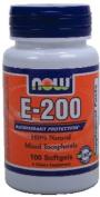 NOW 100% NATURAL VITAMIN E 200 IU (Mixed Tocopherols) - SOFTGELS