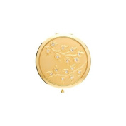 Round Compact Mirror (Gold Leaves wClear Rhinestones) - S4078GLD