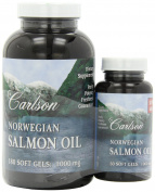 Carlson Labs, Norwegian Salmon Oil, 1000 mg, 180 + 50 Free Soft Gels