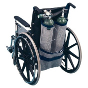 EZ-Access EZ0140BK Wheelchair Oxygen Carrier - Dual