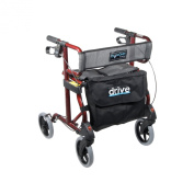 Drive Medical 740R Aluminum Rollator Cherry Red 1 per Case