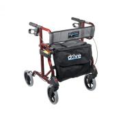 Drive Medical 740R Aluminum Rollator Cherry Red 1 per Case