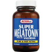 Action Labs 0602292 Super Melatonin plus Valerian - 60 Capsules