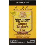 Laci Le Beau Maximum Strength Super Dieter's Tea, Lemon Mint 12 ea