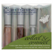 Prestige Lightshine Weightless High Shine Lipgloss Minis + Charming Accessory LSLM-01