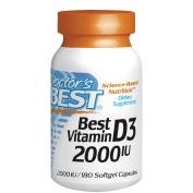 Doctor's Best Best Vitamin D3 2000 IU, Softgel Capsules 180 ea