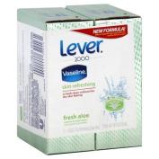 Lever 2000 Deodorant Soap Bars, Fresh Aloe, 2 - 130ml bars