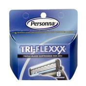 Personna Tri-flexxx Cartridges - For all Gillette Sensor and Personna Tri-flexxx Razors