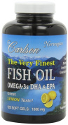 Carlson The Very Finest Fish Oil, Value Pack, Lemon 150 softgels