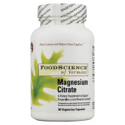 FoodScience of Vermont Multiple Vitamin/Mineral Formulas Magnesium Citrate 600 mg Elemental Magnesium 140 mg 90 vegetarian capsules 216967