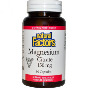 Magnesium Citrate 150 mg 90 Caps by Natural Factors